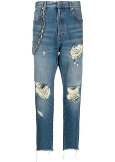 Just Cavalli distressed slim fit jeans
