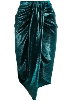 Just Cavalli draped midi skirt