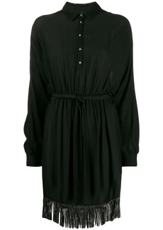 Just Cavalli embellished fringe shirt dress