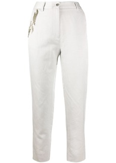 Just Cavalli embellished high-waisted trousers