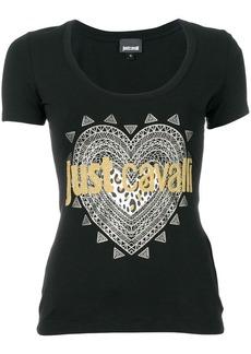 Just Cavalli embellished logo print T-shirt