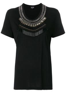 Just Cavalli embellished neck T-shirt