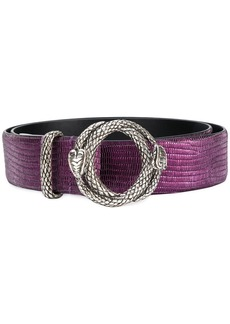 Just Cavalli embossed circle buckle belt