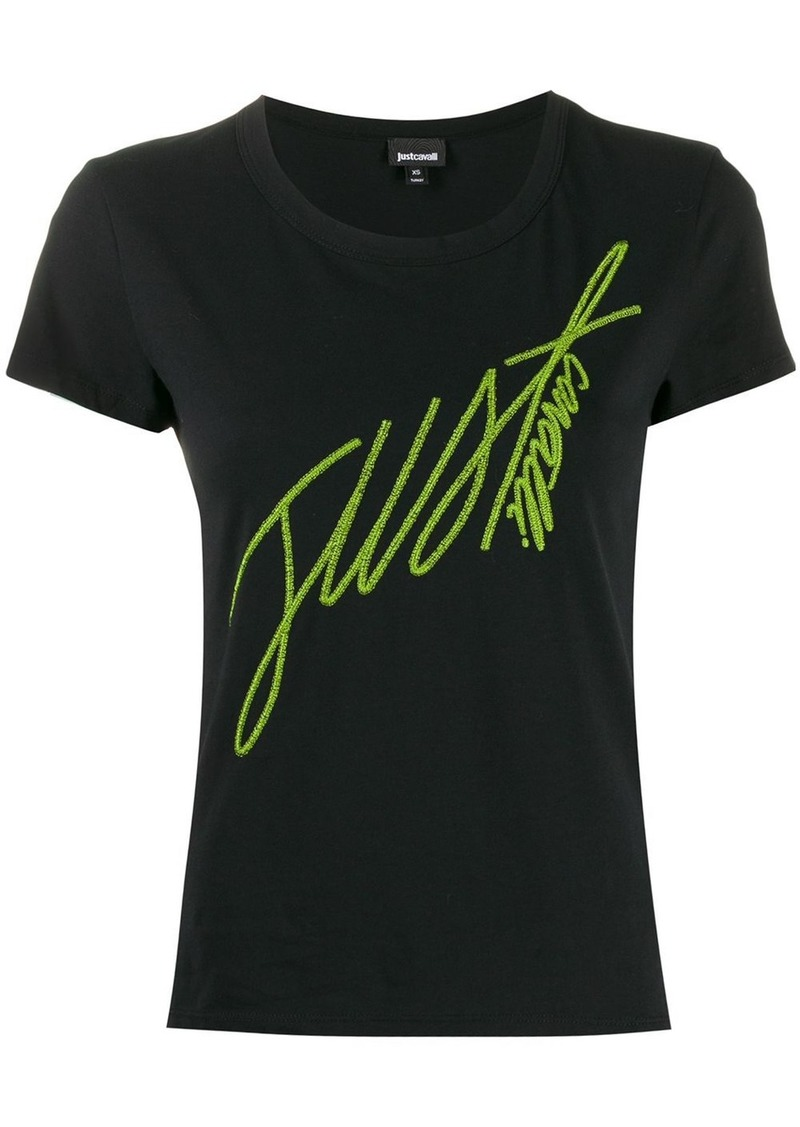 Just Cavalli embroidered logo T-shirt