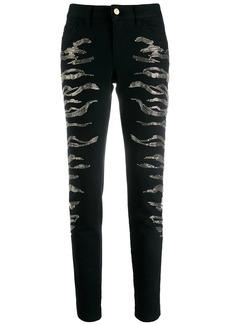 Just Cavalli embroidered skinny jeans