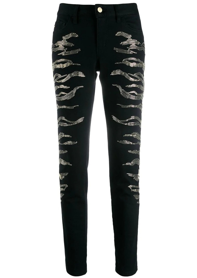 Just Cavalli embroidered skinny jeans