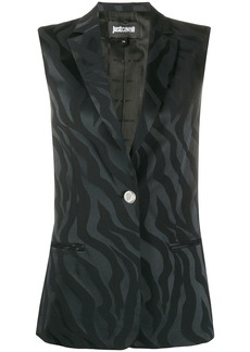 Just Cavalli embroidered sleeveless waistcoat
