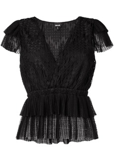 Just Cavalli embroidered top
