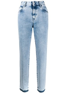 Just Cavalli faded high-rise jeans