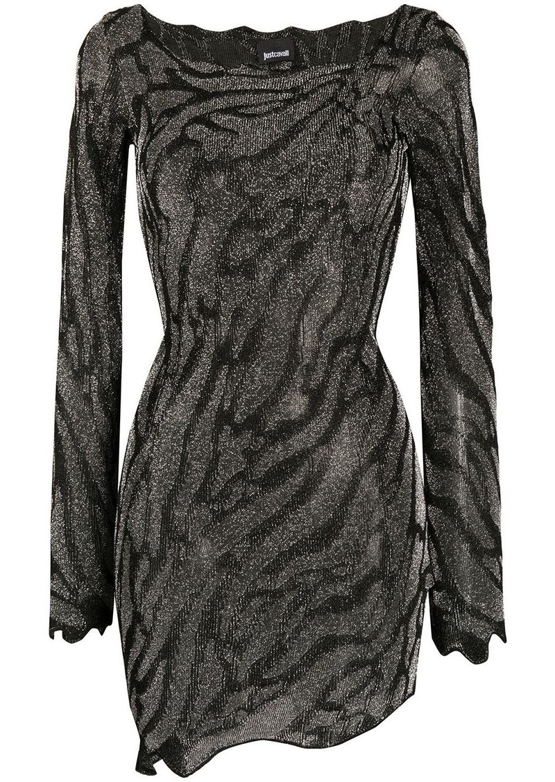 Just Cavalli fitted animal print dress