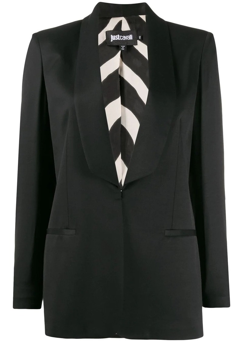 Just Cavalli fitted tuxedo blazer