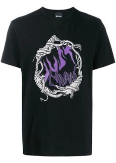 Just Cavalli flame logo crew-neck T-shirt