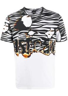 Just Cavalli flaming logo crew-neck T-shirt