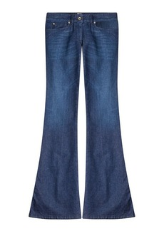 Just Cavalli Flared Jeans with Embroidered Pockets