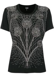 Just Cavalli floral embellished T-shirt