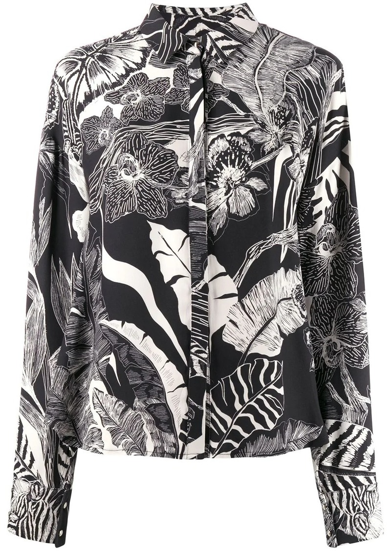 Just Cavalli floral print blouse