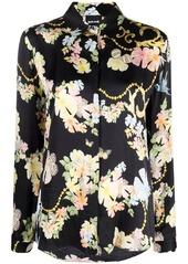 Just Cavalli floral-print long-sleeve shirt