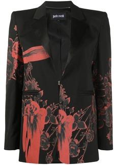 Just Cavalli floral-print single breasted blazer
