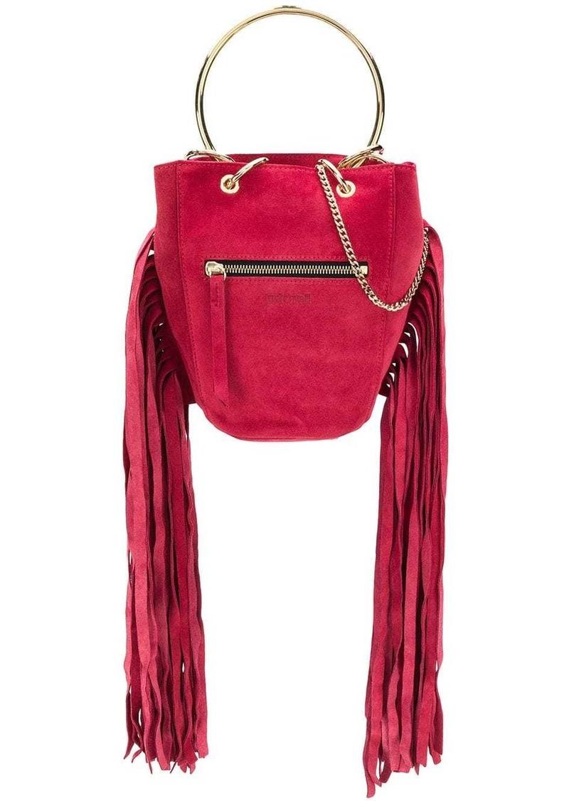 Just Cavalli fringed bucket bag
