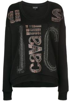 Just Cavalli gemstone logo embellished sweater