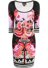Just Cavalli Genesis-print mini dress