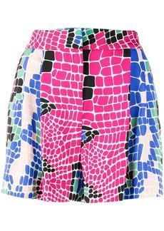 Just Cavalli geometric-print high-waist skirt
