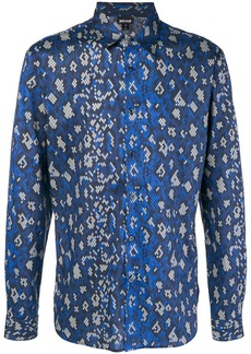 Just Cavalli geometric snake shirt