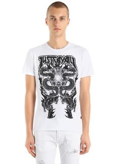 Just Cavalli Gothic Dragons Cotton Jersey T-shirt