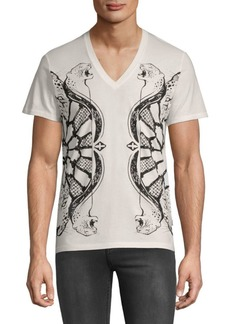 Just Cavalli Graphic Cotton Tee