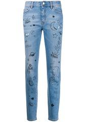 Just Cavalli graphic print jeans
