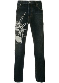 Just Cavalli graphic print jeans