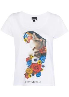 Just Cavalli graphic print logo T-shirt