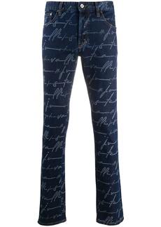 Just Cavalli graphic-print slim-fit jeans