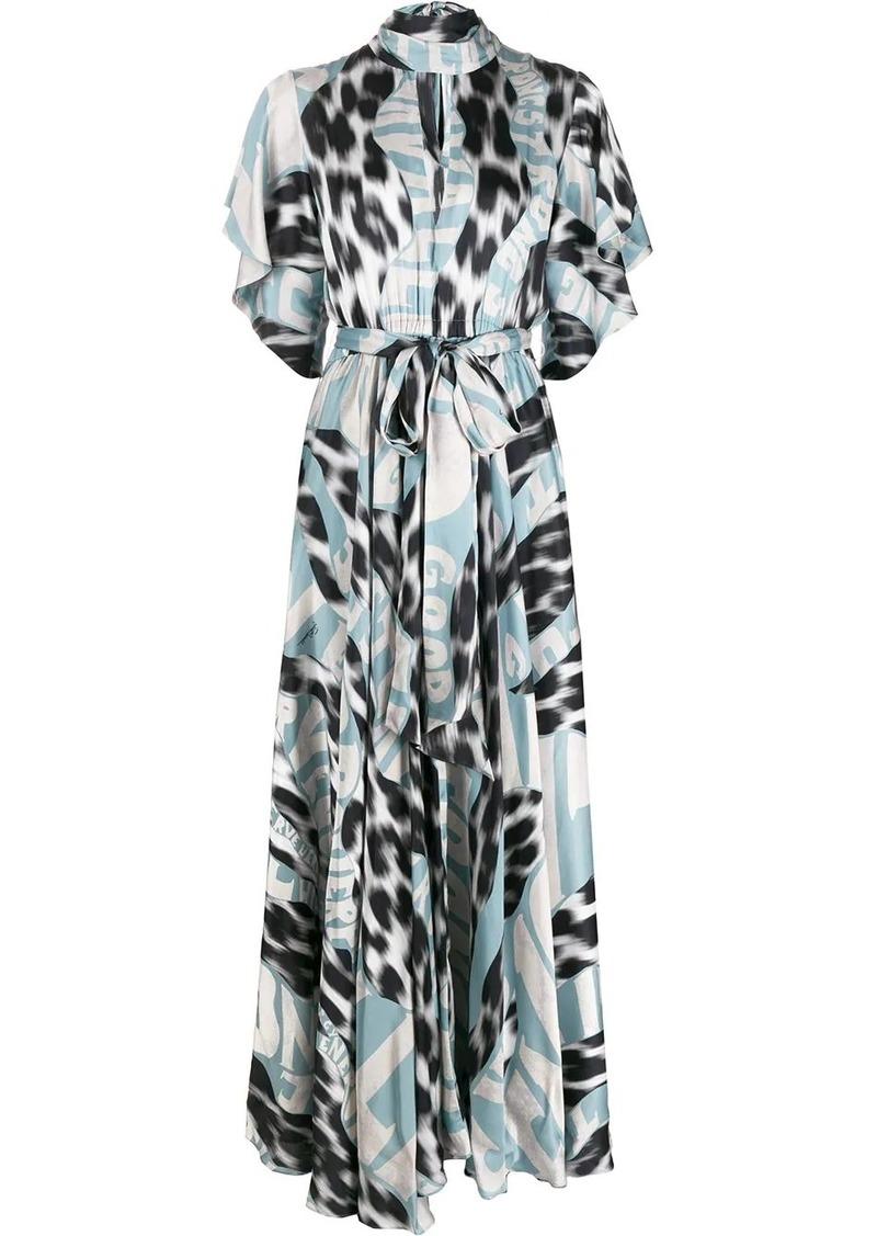 Just Cavalli high-neck graphic-print maxi dress