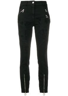 Just Cavalli high-rise biker trousers
