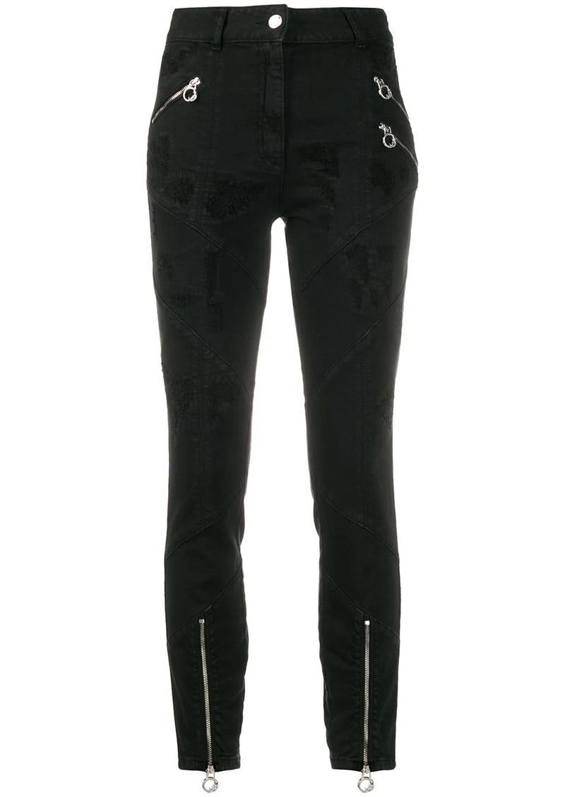 Just Cavalli high-rise biker trousers