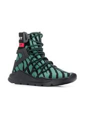 Just Cavalli high top zebra pattern sneakers