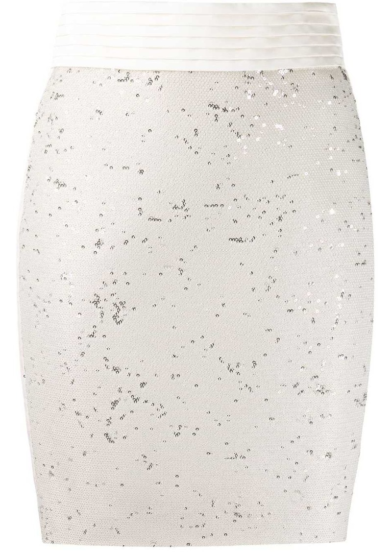 Just Cavalli high waist sequinned skirt