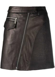 Just Cavalli high-waisted biker-style mini-skirt