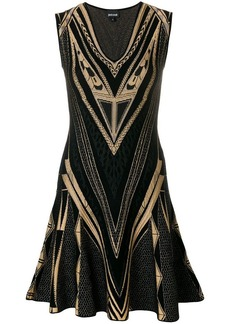 Just Cavalli intarsia-knit dress