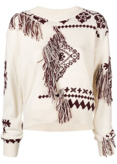 Just Cavalli intarsia tassel sweater