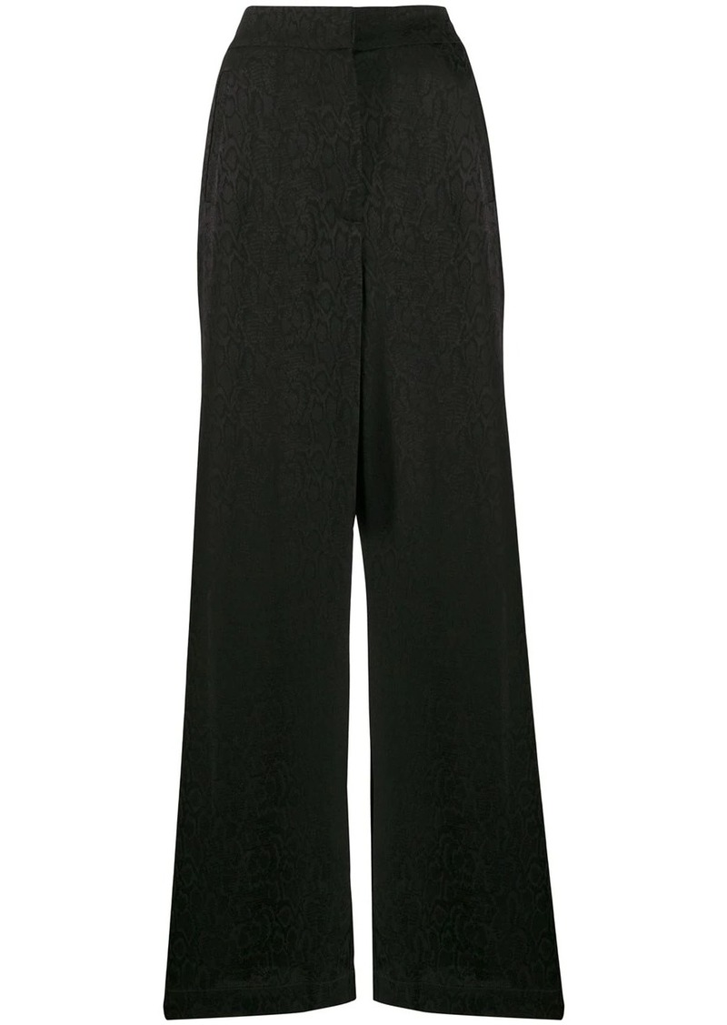 Just Cavalli jacquard effect palazzo trousers