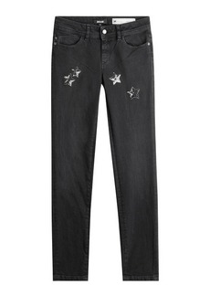 Just Cavalli Jeans with Sequin Star Embellishment