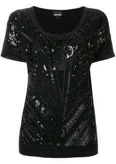 Just Cavalli bead embroidered blouse - Black
