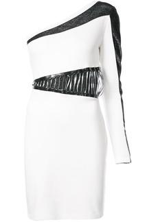 Just Cavalli colour-block asymmetric dress - White