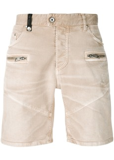 Just Cavalli denim biker shorts - Nude & Neutrals