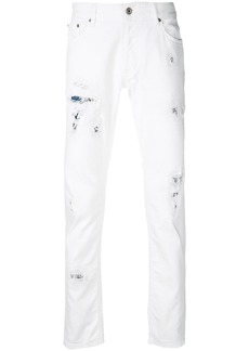 Just Cavalli distressed effect jeans - White
