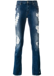 Just Cavalli distressed slim-fit jeans - Blue