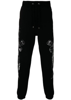 Just Cavalli dragon print track pants - Black