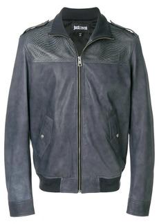 Just Cavalli embossed bomber jacket